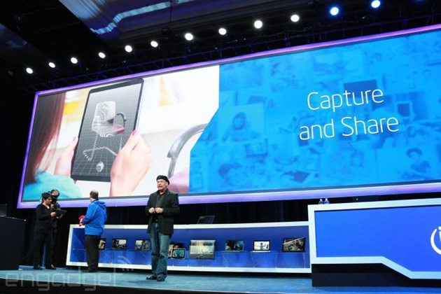 Intel RealSense 3D camera module CES 2014