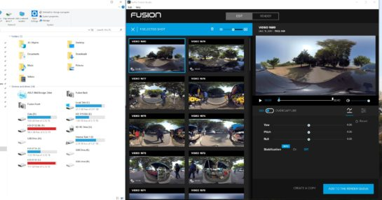 Using the GoPro Fusion and the USB-C Cable